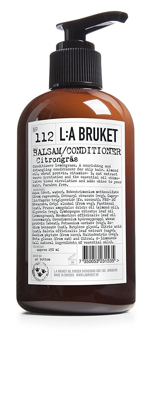 性的組み合わせる炎上L:A Bruket No. 112コンディショナーレモングラス250ml