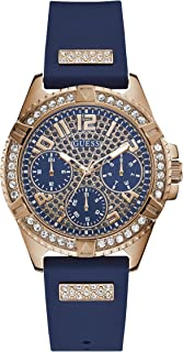 GUESS Womens Quartz Watch, Analog Display and Silicone Strap W1160L3