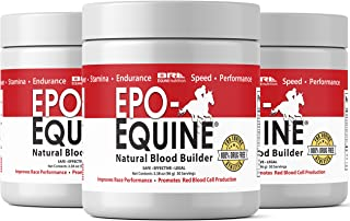 EPO-EQUINE - Natural EPO Red Blood Cell Supplement for Increases in Race Horses Performance and Endurance (30 Servings)
