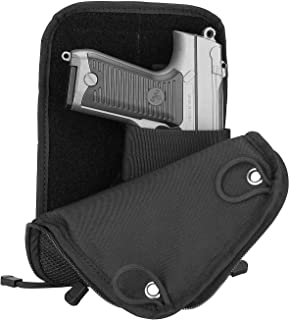 ProCase Concealed Gun Pouch, Multipurpose Carry Pistol Holster Fanny Pack Waist Bag for Handgun with Belt Loops -Black