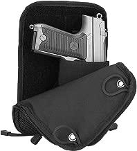 ProCase Concealed Gun Pouch, Multipurpose Carry Pistol Holster Fanny Pack Waist Bag for Handgun with Belt Loops -Black