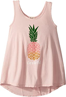 Grateful Pineapple Tank Top (Big Kids)