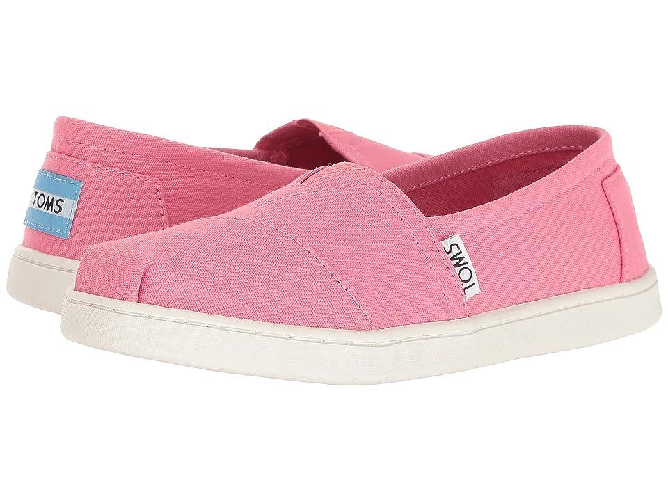TOMS Kids Seasonal Classics (Little Kid/Big Kid) (Bubblegum Pink Canvas) Girls Shoes