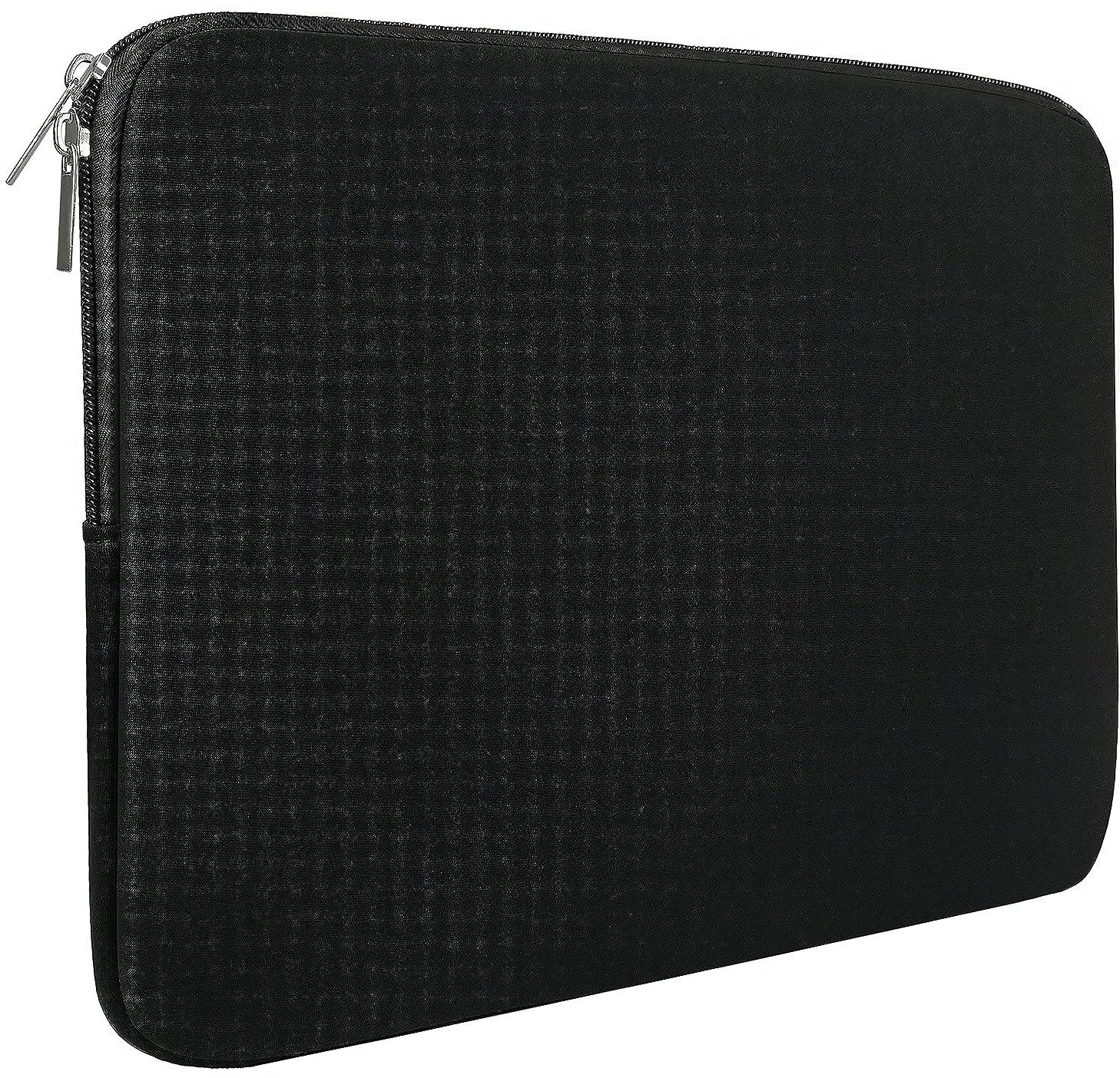 Naukay Laptop Bag 15 Inch, Resistant Neoprene Laptop Sleeve/Notebook Computer Pocket Case/Tablet Briefcase Carrying Bag Compatible for 15 inch MacBook Pro,Laptop, Ultrabook Notebook - (Black)