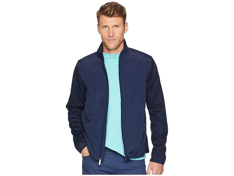 Perry Ellis The Essential Full Zip Stretch Fleece Jacket (Dark Sapphire) Men