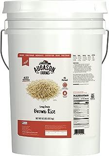 Augason Farms Long Grain Brown Rice 42 Pound Pail