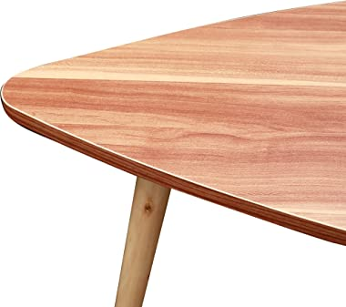Bvyruuv Mid-Century Nesting Coffee Table Set of 2,Modern Minimalist Drop Shape Triangle Side Table,Walnut End Table for Livin
