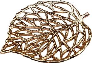 علبة مجوهرات مجوفة من جيفت جيفت جيفت جيفت | لتزيين المنزل والمجوهرات، والإكسسوارات الصغيرة (ذهبي / 5 × 5.5 × 0.5 بوصة)