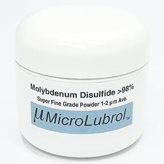 MicroLubrol 1 oz 28 grams MOLYBDENUM DISULFIDE Moly MoS2 Powder SUPER FINE 1-2 micron BEST LUBE GRADE