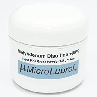 MicroLubrol 1/2 oz MOLYBDENUM DISULFIDE Moly MoS2 Powder SUPER FINE 1-2 micron BEST LUBE GRADE