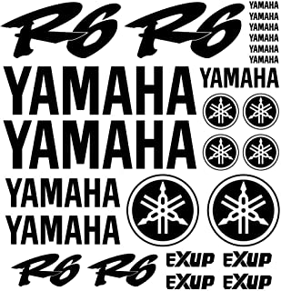 ALOBA kit pegatinas Vinilo para YAMAHA YZF R6 EXUP vinilo de corte con papel transportador, tamaño de lamina 300mm x300mm varios colores disponibles