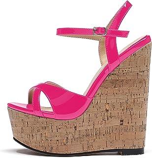 Mettesally Sandali moda donna,Scarpe Piattaforma Sandali,Tacco alto da Donna,Sandali Cinturino alla Caviglia donna