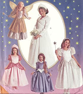 McCall's Costume Pattern 8332. Girls Szs 5 & 6, Storybook Dresses, Princess, Angel, Fairy, Bride