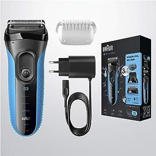 Braun Series 3 Shave&Style 3010BT Elektrisch Scheerapparaat, Wet&Dry Scheermes Voor Man, Zwart/Blauw