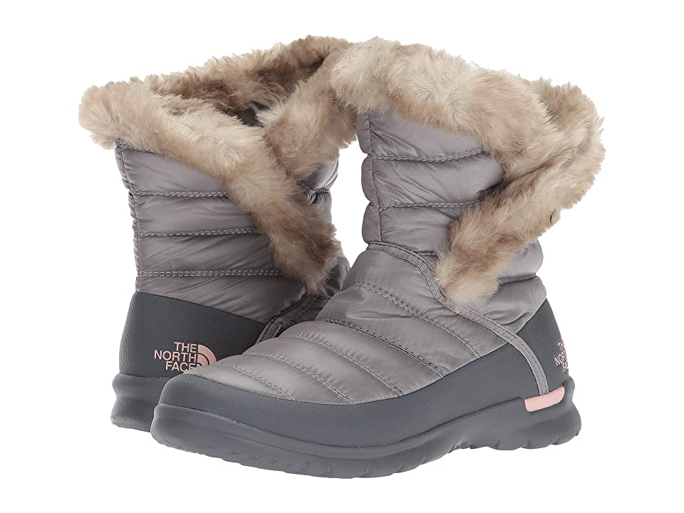 The North Face ThermoBall Microbaffle Bootie II (Shiny Frost Grey/Evening Sand Pink (Past Season)) Women