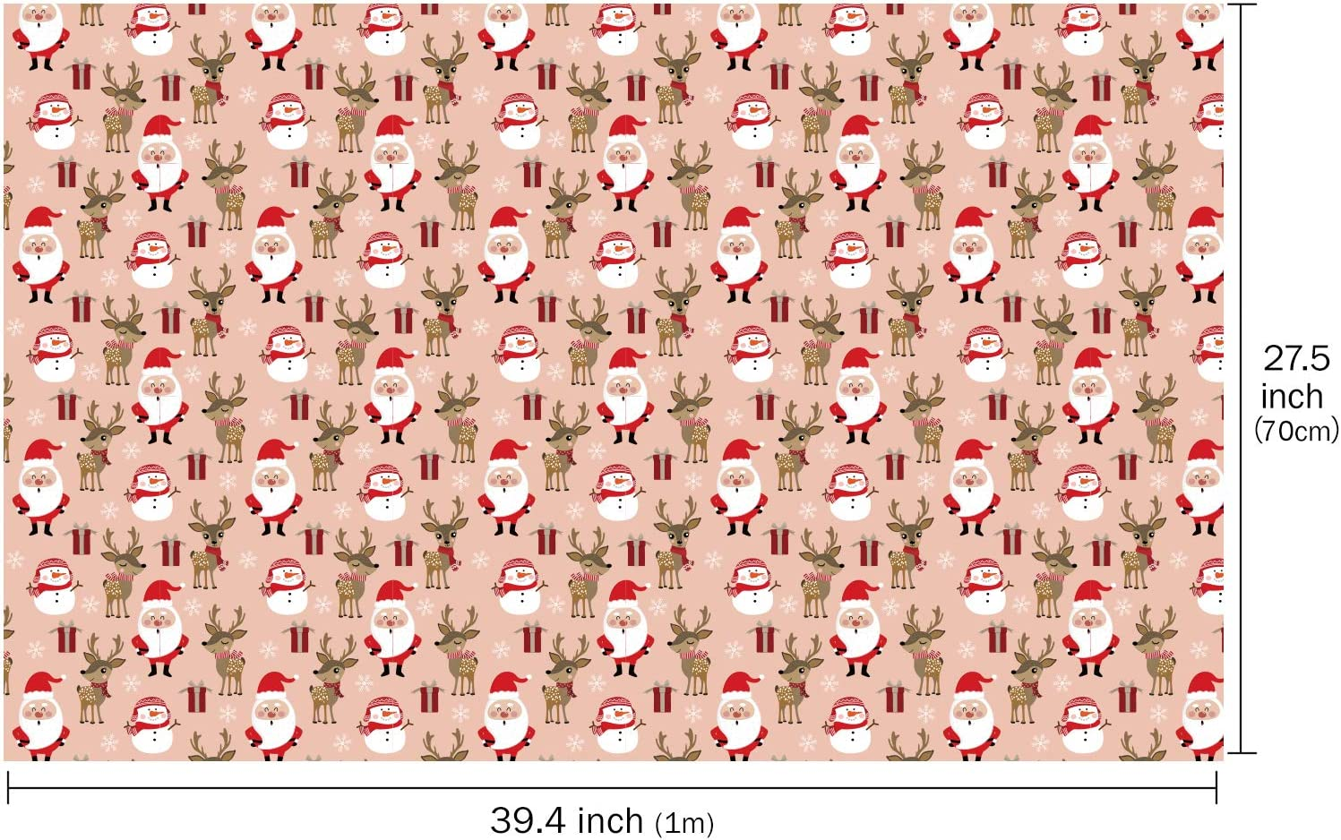 RUSPEPA Kraftpapierpapier Geschenkpapier Zum Geburtstag 3 Gefaltete Bl/ätter 70 cm X 1 m Zoll Pro Blatt