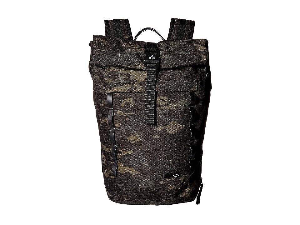 Oakley Voyage 23L Rolltop Backpack (Black Multicam) Backpack Bags