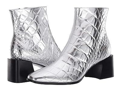 Sigerson Morrison Mandel 2 (Silver Croc Print Leather) Women