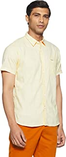 Pepe Jeans Men's Solid Regular Fit Casual Shirt