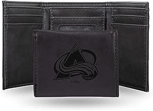 Rico Industries NHL Laser Engraved Tri-Fold Wallet, Black