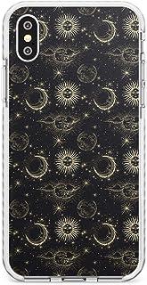 Case Warehouse Pequeño Suns, Moons y Nubes astrológico Impact Funda para iPhone XS TPU Protector Ligero Phone Protectora c...