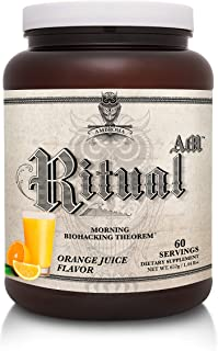 Ambrosia Ritual AM - Morning Biohacking Theorem | Keto Drink Powder with MCT Oil - GoBHB Ketones - Velositol | Brain & Body Energy | Mix in Water or Smoothie (Orange Juice, 60 Servings)