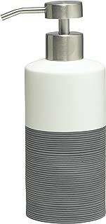 Sealskin soap Dispenser, Doppio, Porcelain, Bath Accessory, Porcelain, Grey, 6.7 x 8.5 x 18 cm