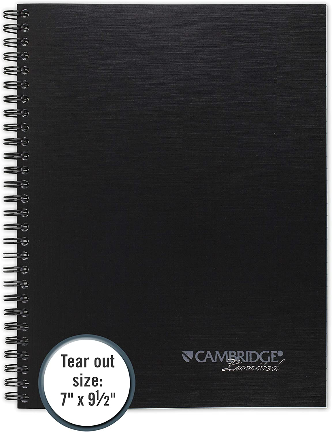 - 2 Pack Black Wirebound 80 Sheets 06672 Legal Ruled,6-5//8 x 9-1//2 Page Size Cambridge Limited Business Notebook
