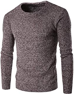 Macondoo Men's Thick Crew Neck Winter Knit Long-Sleeve Pullover Jumper Sweaters