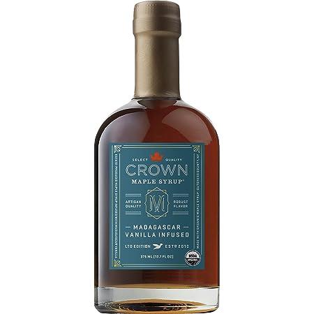 Crown Maple Organic Maple Syrup, Madagascar Vanilla Infused, 12.7 Fluid Ounce