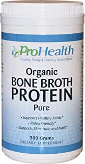 ProHealth Organic Bone Broth Protein (300 Grams - Pure Flavor)