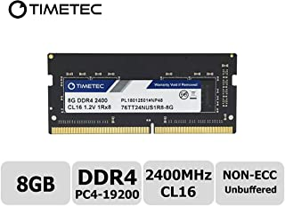 Timetec Hynix IC DDR4 2400MHz PC4-19200 Unbuffered Non-ECC 1.2V CL16 1Rx8 Single Rank 260 Pin SODIMM Laptop Notebook Computer Memory RAM Module Upgrade (8GB)