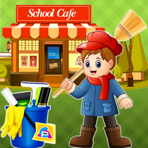 High School Cafe Cleaning: Cleaning Games 2019