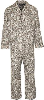Mens Paisley Pattern 100% Brushed Cotton Pyjama Set Full Sleeve Boys Lounge Wear Night Wear Dress Trouser Button Fly Botto...