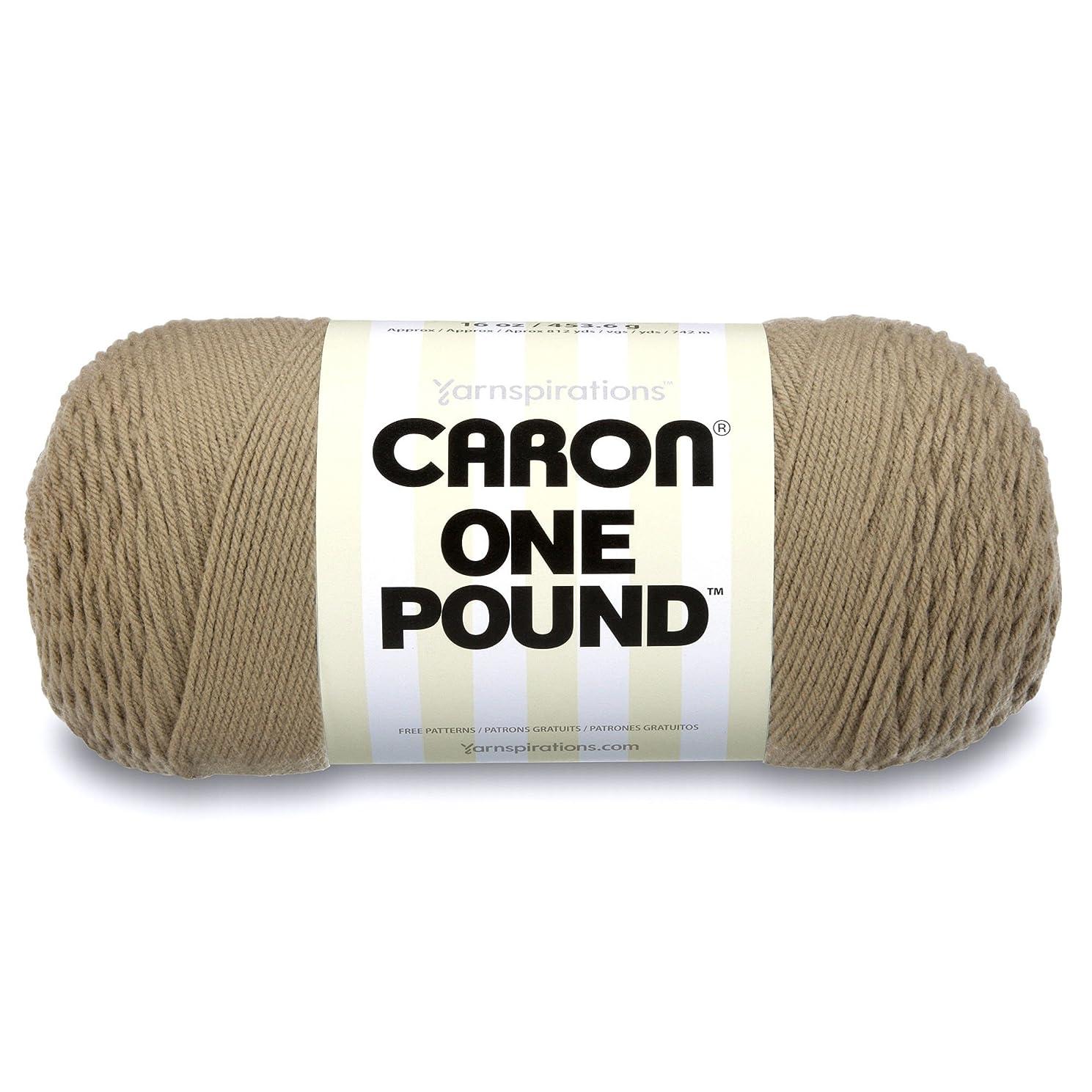 Caron  One Pound Solids Yarn - (4) Medium Gauge 100% Acrylic - 16 oz -  Tae- For Crochet, Knitting & Crafting