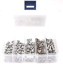 iExcell 100 Pcs M5 x 8mm / 10mm / 12mm / 16mm / 20mm Stainless Steel 304 Hex Socket Button Head Cap Screws Assortment