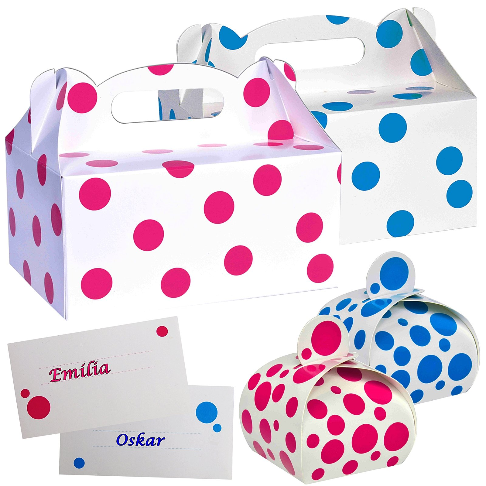 Pastel Juego de cartón cartón tartas Box Caja para pastel pasteles Caja de cartón para pastas Caja de con asa Bautizo Baby: Amazon.es: Hogar
