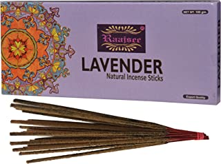 (Lavender) - Raajsee Lavender Incense Sticks 100 Gm Pack-100% Pure Organic Natural Hand Rolled Free From Chemicals-Perfect For Church,Aroma therapy,Relaxation,Meditation,Positivity & Sensual Therapy 100 gms pack