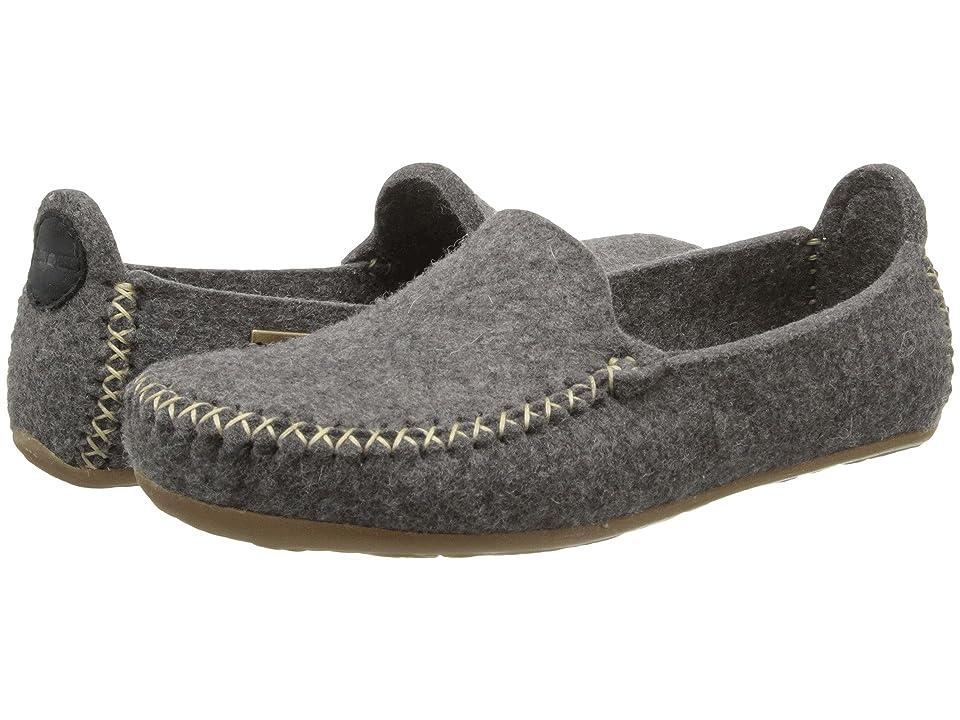 Haflinger Moccasin (Grey) Slippers, Gray