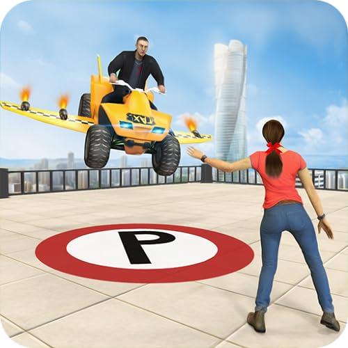 Flying Atv Quad Bike Taxi Driving Simulator