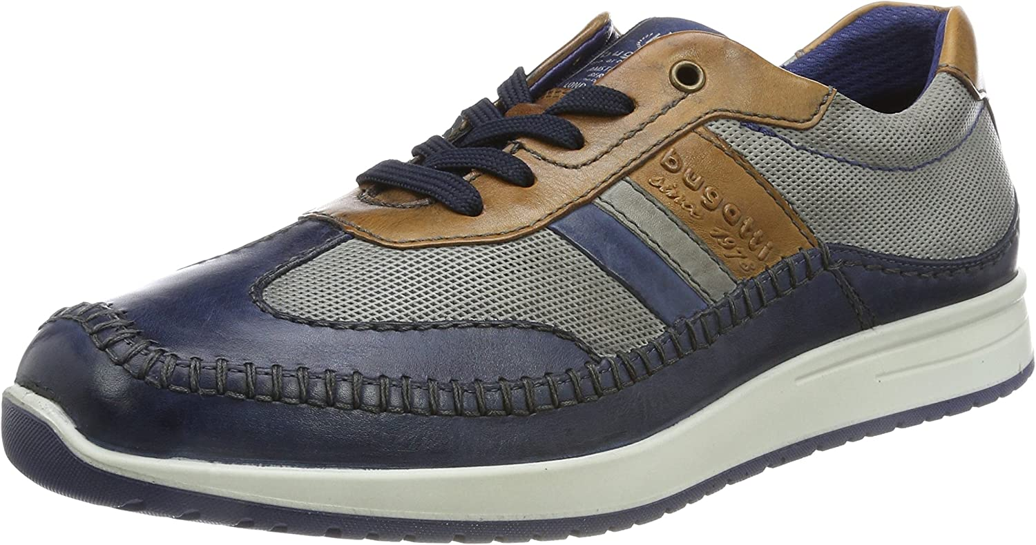 Bugatti Men Lace-Up shoes bluee, (Dark bluee Grey) 311385041111-4115