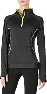 Sponsored Ad - Women's Soft Athletic Shirts 1/4 Zip Long Sleeve Pullover Running Hiking Outdoor Top with Kangaroo Pockets