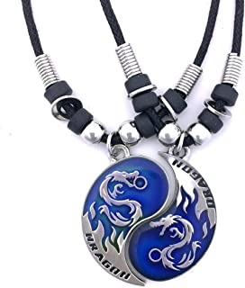 Tapp Collections Dragon Yin Yang 2 Pewter Pendant Necklaces Set
