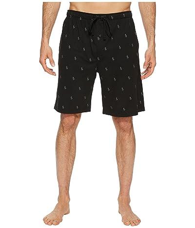 Polo Ralph Lauren Knit Sleep Shorts (Polo Black/Active Grey AOPP) Men