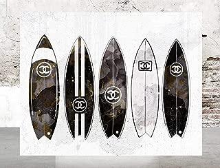 Wall Fashion Glam Art Poster Designer Print Surfboards