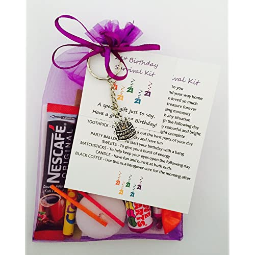 21st Birthday Survival Gift Kit Fun Happy Present For Him Her Choose