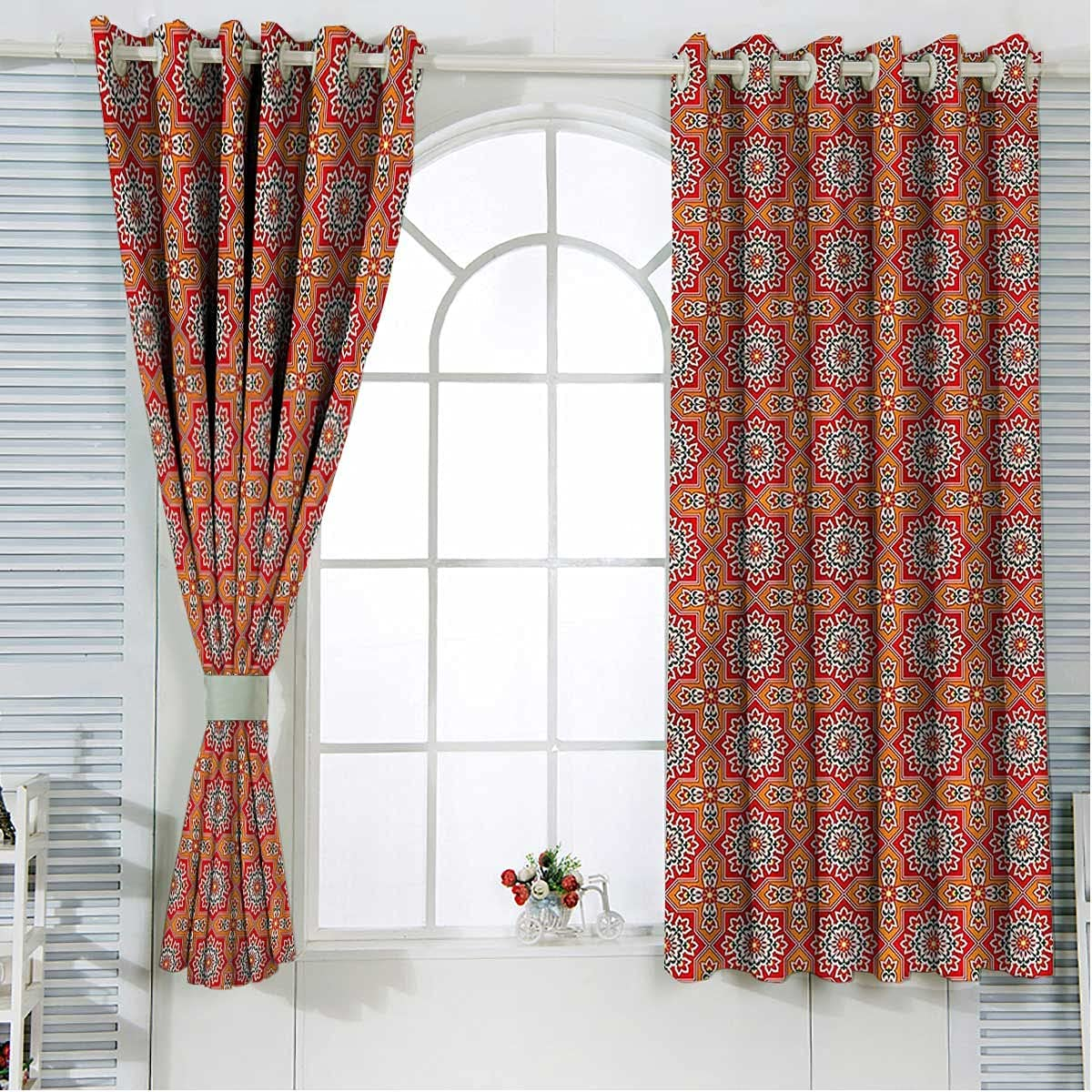 Arabic Small Our shop OFFers the best service Curtains for Windows 63 Award-winning store Length Arabesque Moori Inch