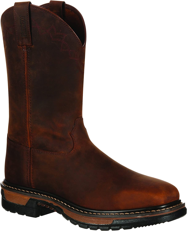 Rocky Men's 11  Original Ride Square Toe Western Boot-RKW0131 (M8) Brown