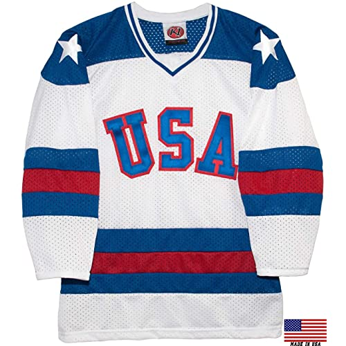 5198ef971 1980 USA Olympic Miracle on Ice Hockey Jersey (Youth Sizes)