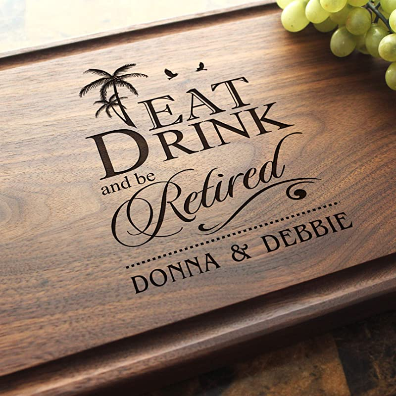 Personalized Cutting Board Custom Keepsake Engraved Serving Cheese Plate Housewarming Birthday Corporate Closing Gift 702